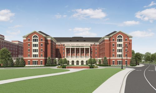New Tutwiler Residence Hall architectural rendering A New Tutwiler Residence Hall_Final Views_