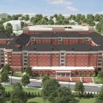 New Tutwiler Residence Hall architectural rendering top front