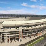 Northwest View of Bryant Denny Stadium