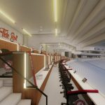 Bryant-Denny Stadium Renovation and Addition architectural rendering 2019-0502 Loge View 1