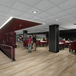 Bryant-Denny Stadium Renovation and Addition architectural rendering 2019-0502 NFC View 2
