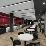Bryant-Denny Stadium Renovation and Addition architectural rendering 2019-0502 NFC View 3
