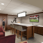 Bryant-Denny Stadium Renovation and Addition architectural rendering 2019-0502 Premium Suite View 2