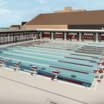 Aquatic Center Renovation architectural rendering 25m Outdoor Pool