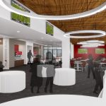 Bryant-Denny Stadium Renovation and Addition architectural rendering 3886 - CHAMPIONS CLUB VIEW