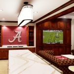 Bryant-Denny Stadium Renovation and Addition architectural rendering 3886 - FOUNDER SUITE KITCHEN VIEW 3