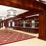 Bryant-Denny Stadium Renovation and Addition architectural rendering 3886 - FOUNDERS CLUB BAR VIEW