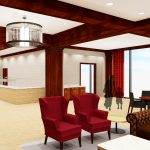 Bryant-Denny Stadium Renovation and Addition architectural rendering 3886 - FOUNDERS CLUB SERVING VIEW