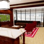 Bryant-Denny Stadium Renovation and Addition architectural rendering 3886 - FOUNDERS SUITE KITCHEN VIEW 2