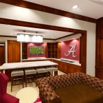 Bryant-Denny Stadium Renovation and Addition architectural rendering 3886 - FOUNDERS SUITE KITCHENETTE VIEW