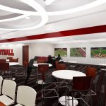 Bryant-Denny Stadium Renovation and Addition architectural rendering 3886 - RECRUITING LOUNGE - GAMING AREA
