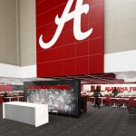 Bryant-Denny Stadium Renovation and Addition architectural rendering 3886 - RECRUITING LOUNGE - VIEW 1