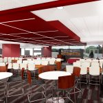 Bryant-Denny Stadium Renovation and Addition architectural rendering 3886 - RECRUITING LOUNGE - VIEW 2