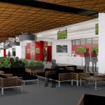Bryant-Denny Stadium Renovation and Addition architectural rendering 3886 - TERRACE CLUB VIEW