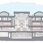 Hewson Hall Building Cross Section view of interior rendering