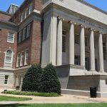 Photo of the Exterior of Gorgas Library from the Quad