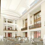 Hewson Hall Interior Atrium - 1st Floor architectural rendering
