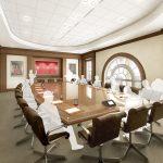 Interior Board Room Hewson Hall architectural rendering