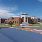 Mal M. Moore Athletic Facility Renovation & Addition architectural rendering
