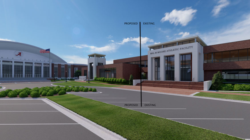 Rendering of Mal Moore Athletic Facility