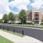 Capstone Parking Deck architectural rendering NE Perspective