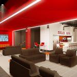 Aquatic Center Renovation architectural rendering Athletes Lounge