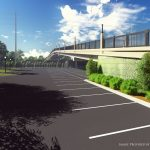 2nd Avenue Overpass architectural rendering or parking lot area