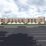 Capstone Parking Deck architectural rendering S Perspective