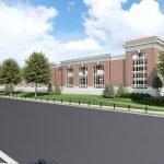 Capstone Parking Deck architectural rendering SW Perspective