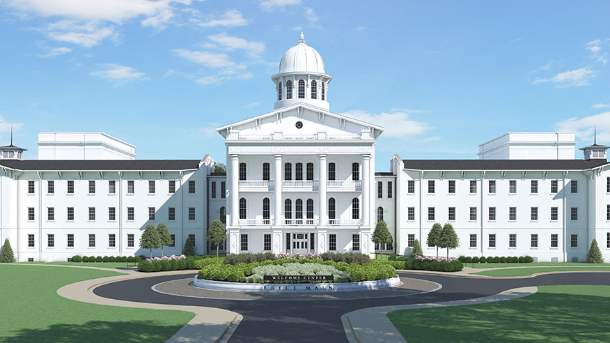 rendering of Bryce Main upon completion of renovation