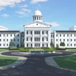Peter Bryce Main Renovation architectural rendering UA PAAC - Welcome Center name