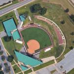 John and Ann Rhoads Softball Stadium Renovation architectural rendering vantage points