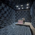 Rendering of the anechoic chamber